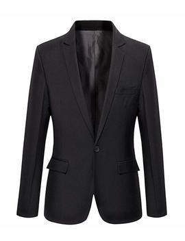 Benibos Mens Slim Fit Casual One Button Blazer Jacket by Benibos