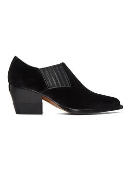 Black Velvet Rylee Boots by ChloÉ