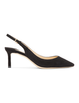 Black Suede Erin 60 Heels by Jimmy Choo