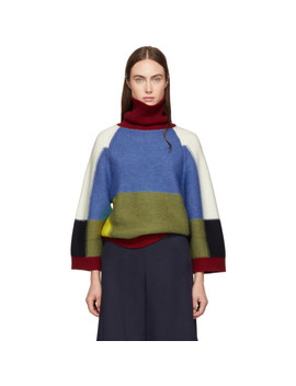 Multicolor Patchwork Turtleneck by See By ChloÉ