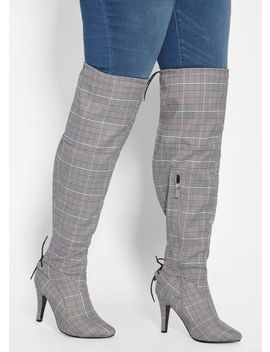 Faux Leather Over The Knee Boot by Ashley Stewart