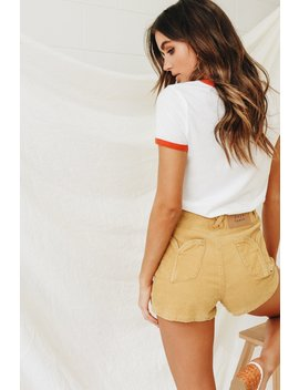 Rising Sun Lace Up Shorts by Vergegirl