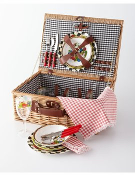 Berries & Blossoms Picnic Hamper by Mac Kenzie Childs