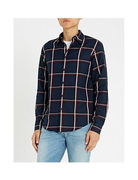 Tartan Regular Fit Brushed Cotton Shirt by Sandro
