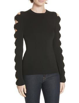 Yonoh Cutout Sleeve Sweater by Ted Baker London