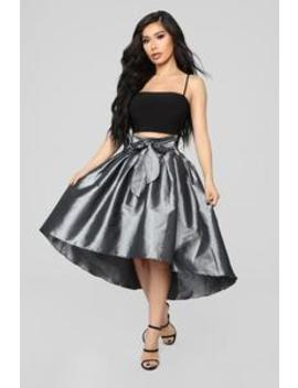 Hold Onto Me Skirt   Silver by Fashion Nova