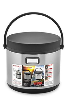 Tayama Txm E60 Cf Food Warmer In One Thermal Cooker, 6 Qt, Black by Tayama