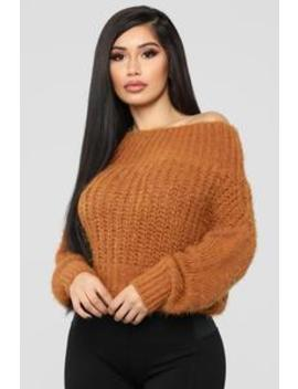Free Hugs Fuzzy Sweater   Mustard by Fashion Nova