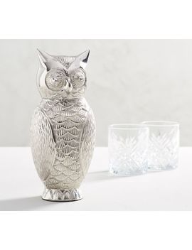 Owl Cocktail Shaker by Pottery Barn