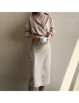 Czarine   Midi Wrap Shirtdress by Czarine