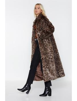 It's Your Meow Ment Leopard Coat by Nasty Gal