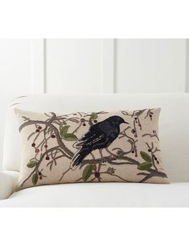 Perched Crow Lumbar Pillow Cover by Pottery Barn