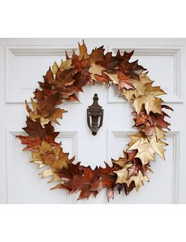 Metal Leaf Wreath by Pottery Barn
