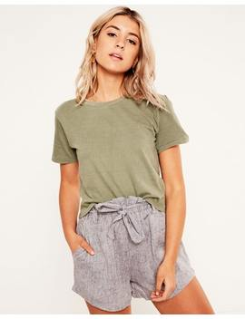 Washed Cropped Tee by Glassons