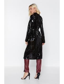 Have The Vinyl Say Trench Coat by Nasty Gal