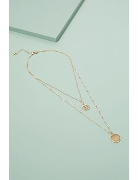 Layered Coin Pendant Necklace by Anthropologie