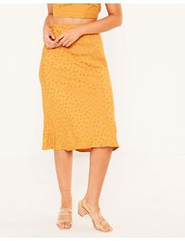 Jaquard Midi Skirt by Glassons