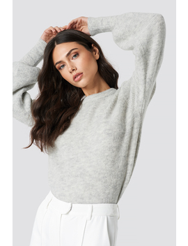 Alpaca Wool Blend Balloon Sleeve Sweater by Na Kd Exclusive