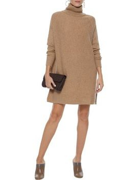Oversized Ribbed Cashmere Turtleneck Mini Dress by N.Peal