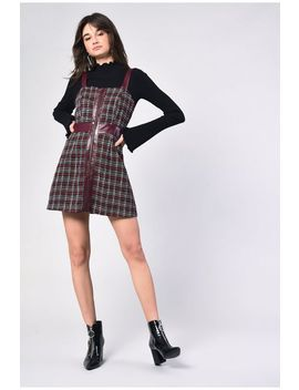 **Tweed Pinafore Dress By Glamorous by Topshop