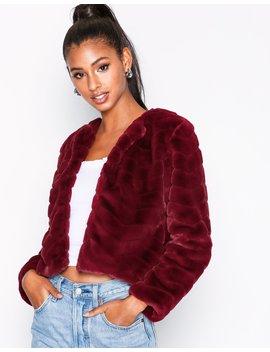 Jdyevan Short Fake Fur Jacket Otw Q by Jacqueline De Yong
