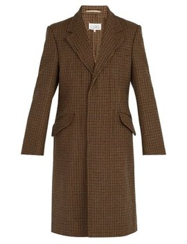Houndstooth Wool Coat by Maison Margiela