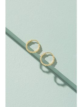 Arina Textured Hoop Earrings by Anna + Nina