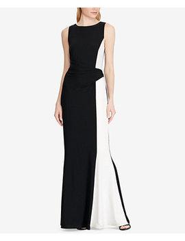 Two Tone Matte Gown by Lauren Ralph Lauren