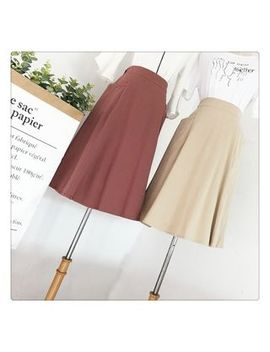 Viie   A Line Midi Skirt by Viie
