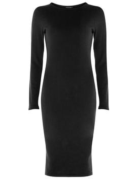 Black Plain Knitted Dress by Dorothy Perkins