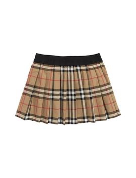Mini Pansie Check Skirt by Burberry