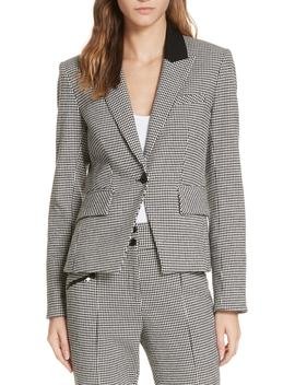 Airlie Houndstooth Dickey Jacket by Veronica Beard