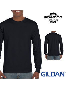 Gildan Mens Ultra Cotton Adult Long Sleeve Plain T Shirt Cotton Tee Shirt 2400 by Ebay Seller