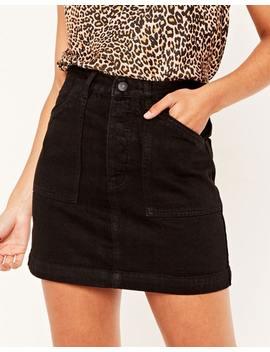 Denim Topstitch Skirt by Glassons
