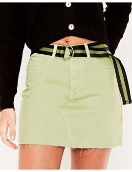 coloured-denim-mini-skirt by glassons