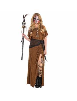 Adult Ladies Witch Doctor Voodoo Wrap Dress Halloween Fancy Dress Costume by Fancy Dress Vip