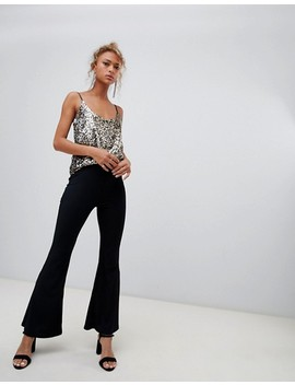New Look Cami Top In Sequin Leopard Print by New Look