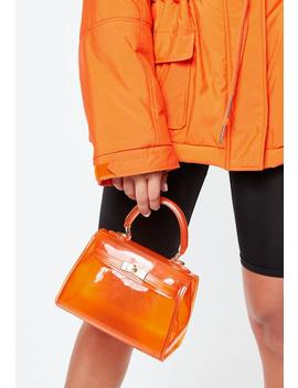 Orange Transparent Mini Handbag by Missguided