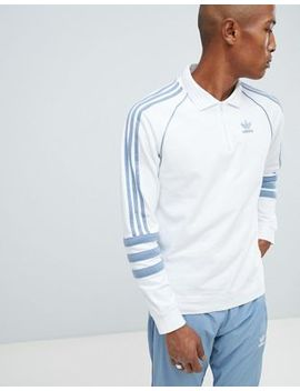 Adidas Originals Authentic Rugby Top In White Dh3844 by Adidas Originals