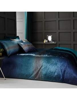 Valentina Velvet Teal Bed Linen Collection by Dunelm