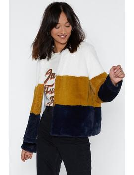 Just Color Decide Faux Fur Jacket by Nasty Gal