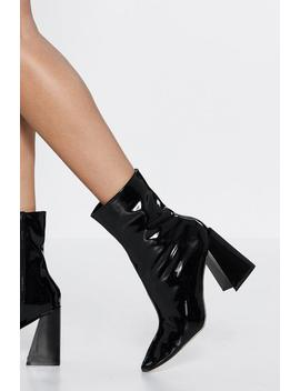 It's Your Time To Shine Patent Boot by Nasty Gal