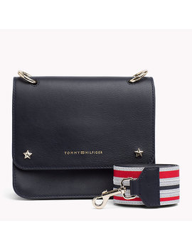 Tommy Leather Crossover Bag by Tommy Hilfiger
