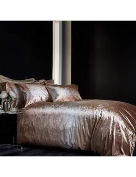 Valentina Velvet Gold Bed Linen Collection by Dunelm