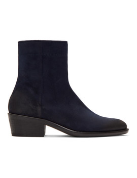 Blue Suede Boots by Haider Ackermann