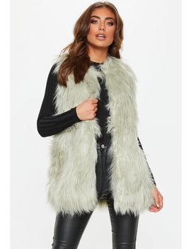 Green Mint Faux Fur Gilet by Missguided