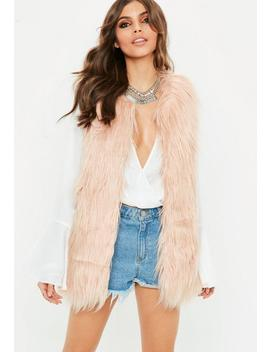 Pink Faux Fur Gilet by Missguided