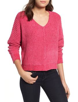 Shaker Stitch Chenille Sweater by Woven Heart