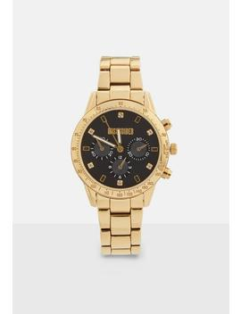 Gold Tone Multi Dial Bracelet Watch by Missguided