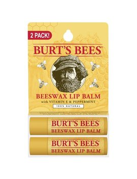 Burt's Bees 100 Percents Natural Moisturizing Lip Balm, Beeswax, 2 Tubes In Blister Box by Burt's Bees